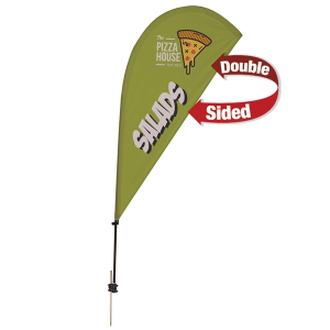 6.5' Tear Drop Streamline Sail Kit Double-Sided w/Spike Base