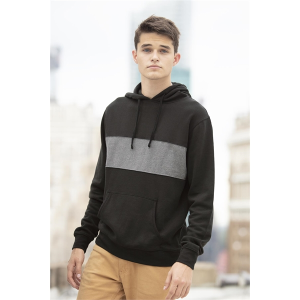 Premium Cotton Blocked Fleece Pullover Hoodie